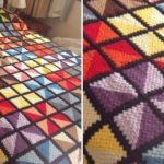 Crochet Triangle Shaped Granny Square Blanket