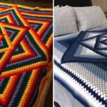 Crochet Squared Diamond Granny Throw