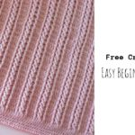 Crochet Easy Beginner Cable Blanket