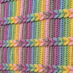 Crochet Pulled Taffy Blanket