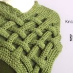 Knit Braided Celtic Knot Scarf