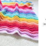 Crochet Chunky Rainbow Ripple Blanket