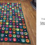 Crochet Spiral Flowers Blanket