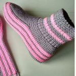 Knit Slippers With Spokes