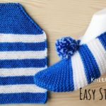 Knit Stripe Slippers