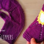 Knit Open Front Slippers