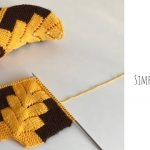 Knit Simple Slippers With Beads