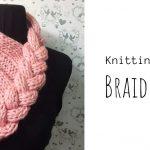 Knit Braided Scarf