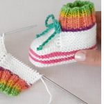 Knit Simple Rainbow Booties