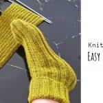 Knit Simple Slipper socks