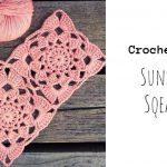 Crochet Sunset Flower Square Motif