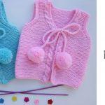 Knit Pompom Baby Vest