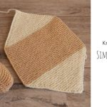 Knit Simple Hexagon Slippers