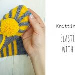 Knit Elastic Slippers With Pompom