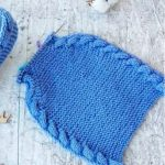 Knit Simple Cable Slippers